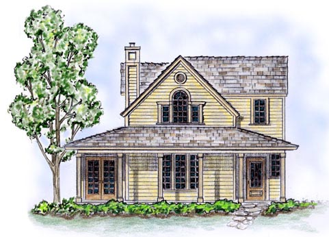 Country Farmhouse House Plan 56506 Elevation