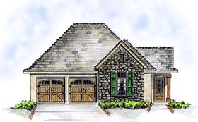Bungalow Cottage European House Plan 56509 Elevation