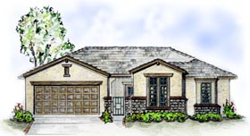 Florida Traditional House Plan 56511 Elevation