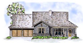 Country , Traditional House Plan 56513 with 2 Beds, 3 Baths, 2 Car Garage Elevation