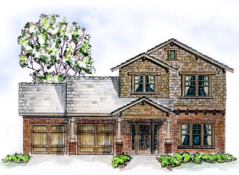 Traditional House Plan 56514 with 3 Beds, 3 Baths, 2 Car Garage Elevation