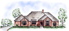 Traditional House Plan 56519 with 3 Beds, 2 Baths, 2 Car Garage Elevation