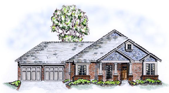 Craftsman Traditional House Plan 56520 Elevation