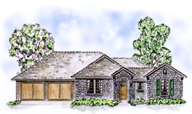 European Traditional House Plan 56522 Elevation