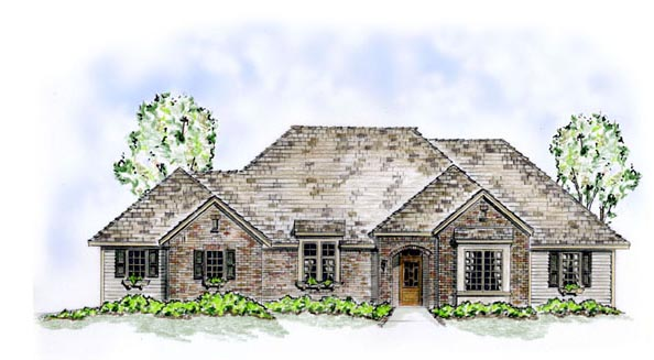 Traditional House Plan 56524 with 3 Beds, 2 Baths, 2 Car Garage Elevation