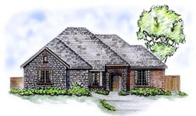 European Traditional House Plan 56525 Elevation