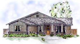 Craftsman House Plan 56526 with 3 Beds, 2 Baths, 2 Car Garage Elevation