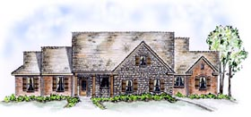 Traditional , European House Plan 56529 with 3 Beds, 2 Baths, 2 Car Garage Elevation