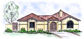 Florida Mediterranean Southwest House Plan 56530 Elevation