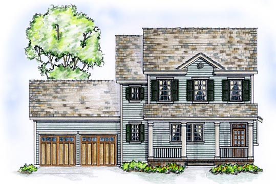 Country Farmhouse Traditional Elevation of Plan 56531