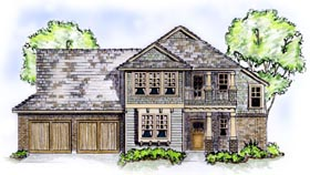 Craftsman House Plan 56532 Elevation