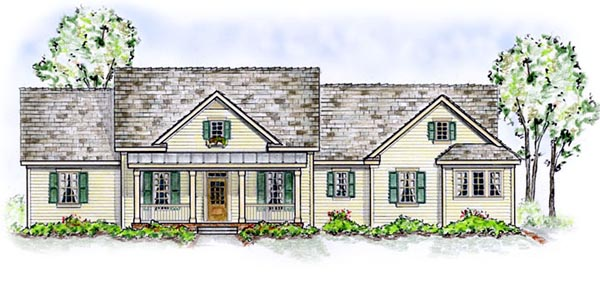 House Plan 56534 | Country Traditional Style Plan with 2471 Sq Ft, 3 Bedrooms, 3 Bathrooms, 2 Car Garage Elevation