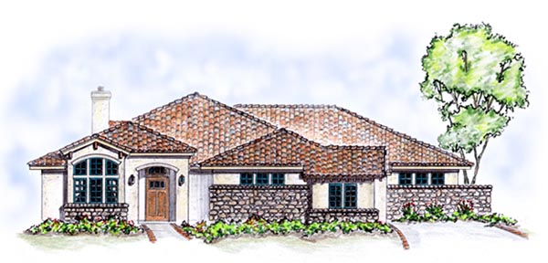Florida Mediterranean House Plan 56537 Elevation