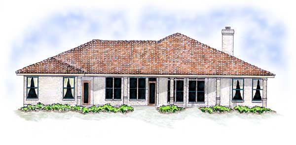 Florida Mediterranean House Plan 56537 Rear Elevation