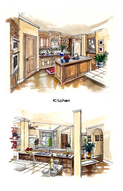 Mediterranean, Southwest House Plan 56540 with 3 Beds, 3 Baths, 3 Car Garage Picture 2