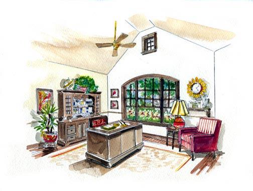 Craftsman, European House Plan 56542 with 4 Beds, 4 Baths, 2 Car Garage Picture 2