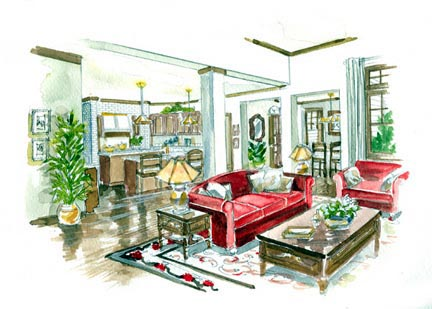 Craftsman, European House Plan 56542 with 4 Beds, 4 Baths, 2 Car Garage Picture 3