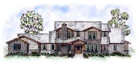 European Traditional House Plan 56547 Elevation