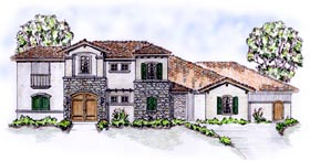 Florida Mediterranean House Plan 56549 Elevation