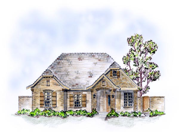 House Plan 56558 with 3 Beds, 2 Baths, 2 Car Garage Front Elevation