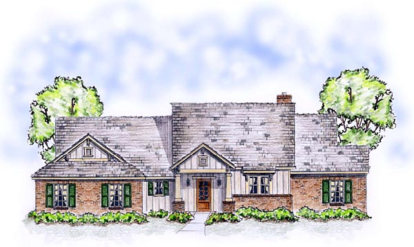 Bungalow Craftsman Ranch Traditional House Plan 56564