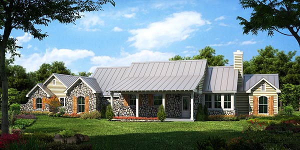 Country , Farmhouse , Traditional House Plan 56566 with 3 Beds, 3 Baths, 2 Car Garage Elevation