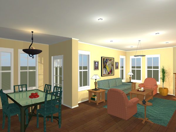 Bungalow, Craftsman, Ranch, Traditional House Plan 56567 with 4 Beds, 3 Baths, 2 Car Garage Picture 2