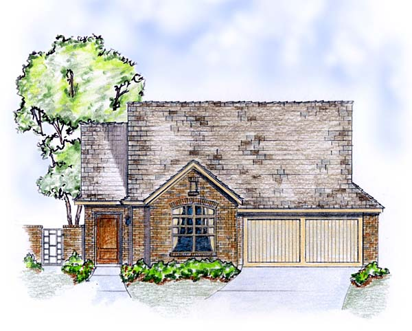 Cottage, European, Traditional House Plan 56568 with 3 Beds , 2 Baths , 2 Car Garage Elevation