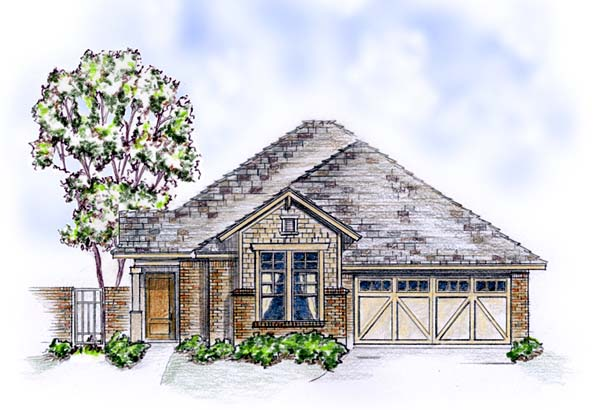 Craftsman, European, Traditional House Plan 56569 with 3 Beds , 2 Baths , 2 Car Garage Elevation