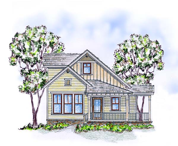 Cabin Cottage Craftsman Farmhouse House Plan 56570 Elevation