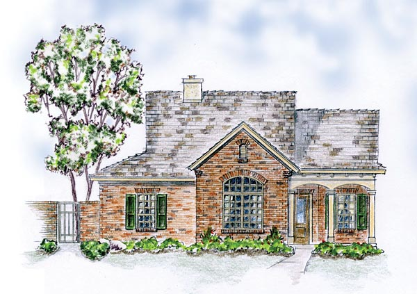 Bungalow European Ranch Traditional House Plan 56571 Elevation