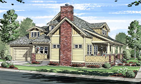 Bungalow Cabin Cottage Craftsman House Plan 56574 Elevation