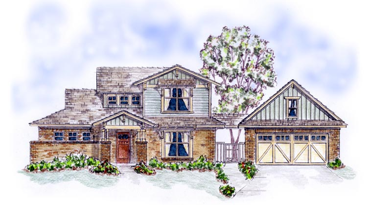 Bungalow Craftsman House Plan 56579 Elevation