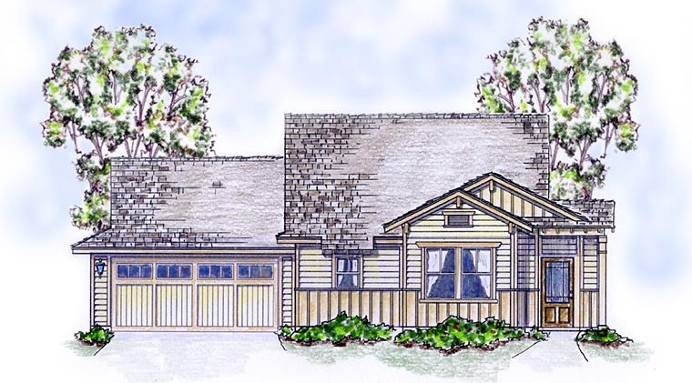 Bungalow Cottage Craftsman House Plan 56582 Elevation