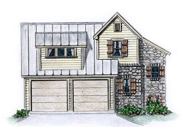 Country Farmhouse Traditional House Plan 56585