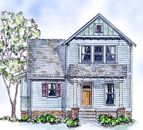 Cottage Farmhouse Traditional House Plan 56586 Elevation