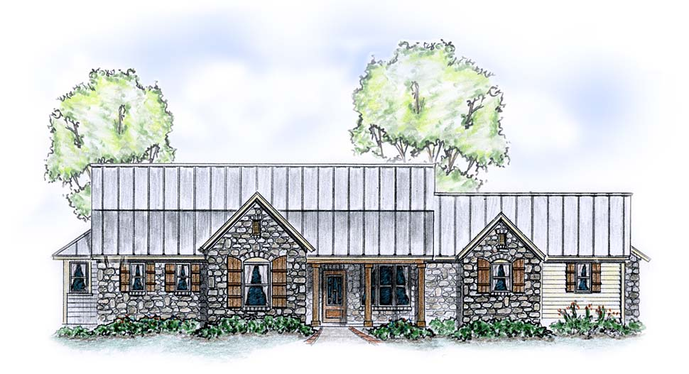 Cottage French Country Traditional Elevation of Plan 56587