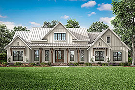 Country , Craftsman , Modern Farmhouse House Plan 56700 with 3 Beds, 3 Baths, 2 Car Garage Elevation
