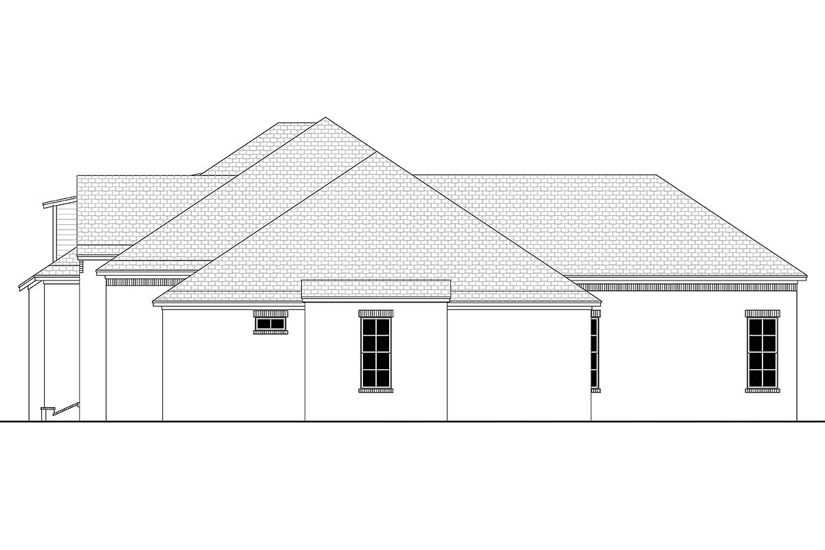 Country, European, French Country House Plan 56701 with 4 Beds, 3 Baths, 3 Car Garage Picture 1