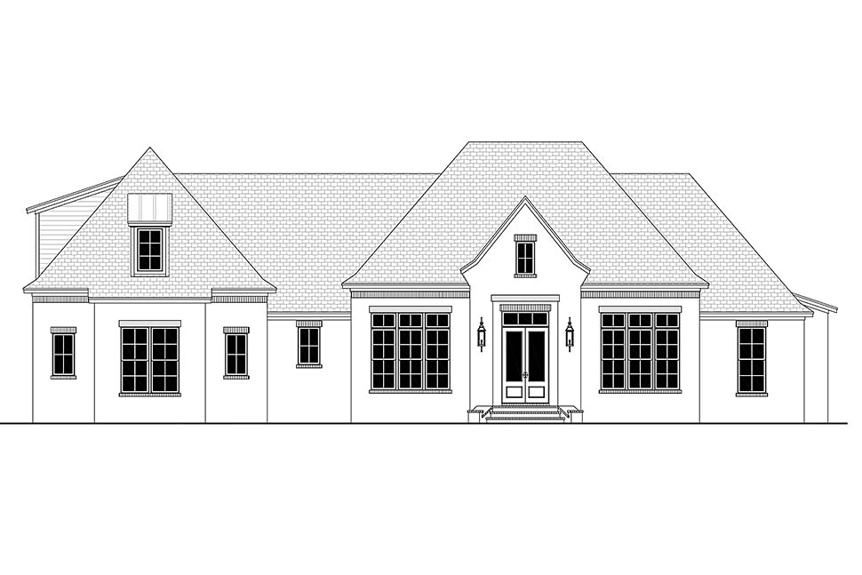 Country, European, French Country House Plan 56701 with 4 Beds, 3 Baths, 3 Car Garage Picture 4
