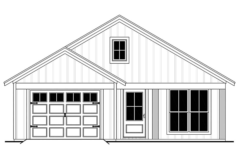 Country, Farmhouse, Traditional House Plan 56702 with 3 Beds, 2 Baths, 1 Car Garage Picture 4
