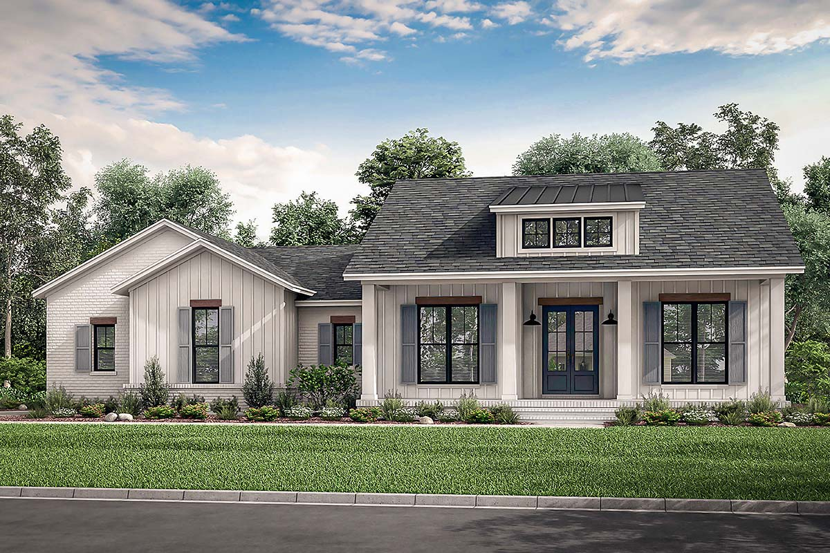 Country, Craftsman, Modern Farmhouse, Traditional House Plan 56703 with 3 Beds , 3 Baths , 2 Car Garage Elevation