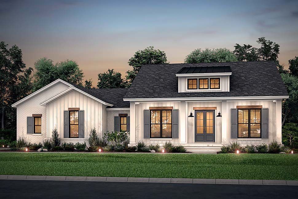 Country, Craftsman, Farmhouse, Traditional House Plan 56703 with 3 Beds, 3 Baths, 2 Car Garage Picture 4