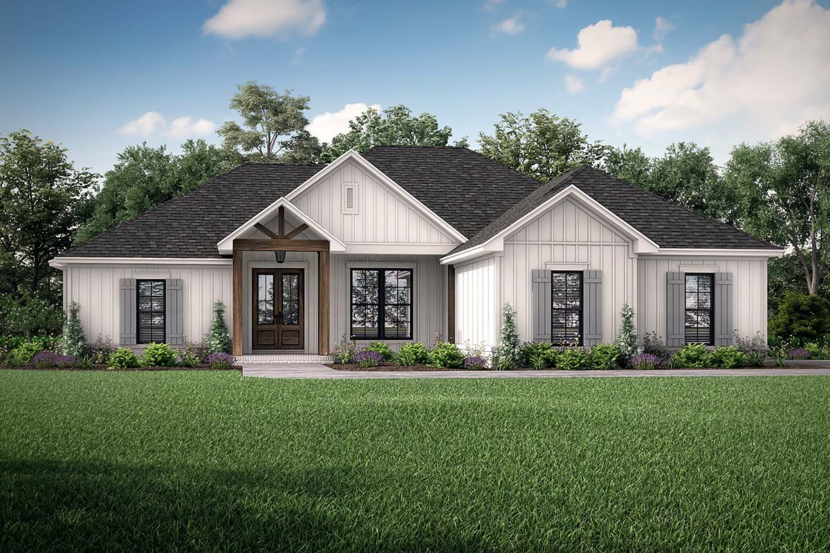 Country , Craftsman , Farmhouse , Elevation of Plan 56704