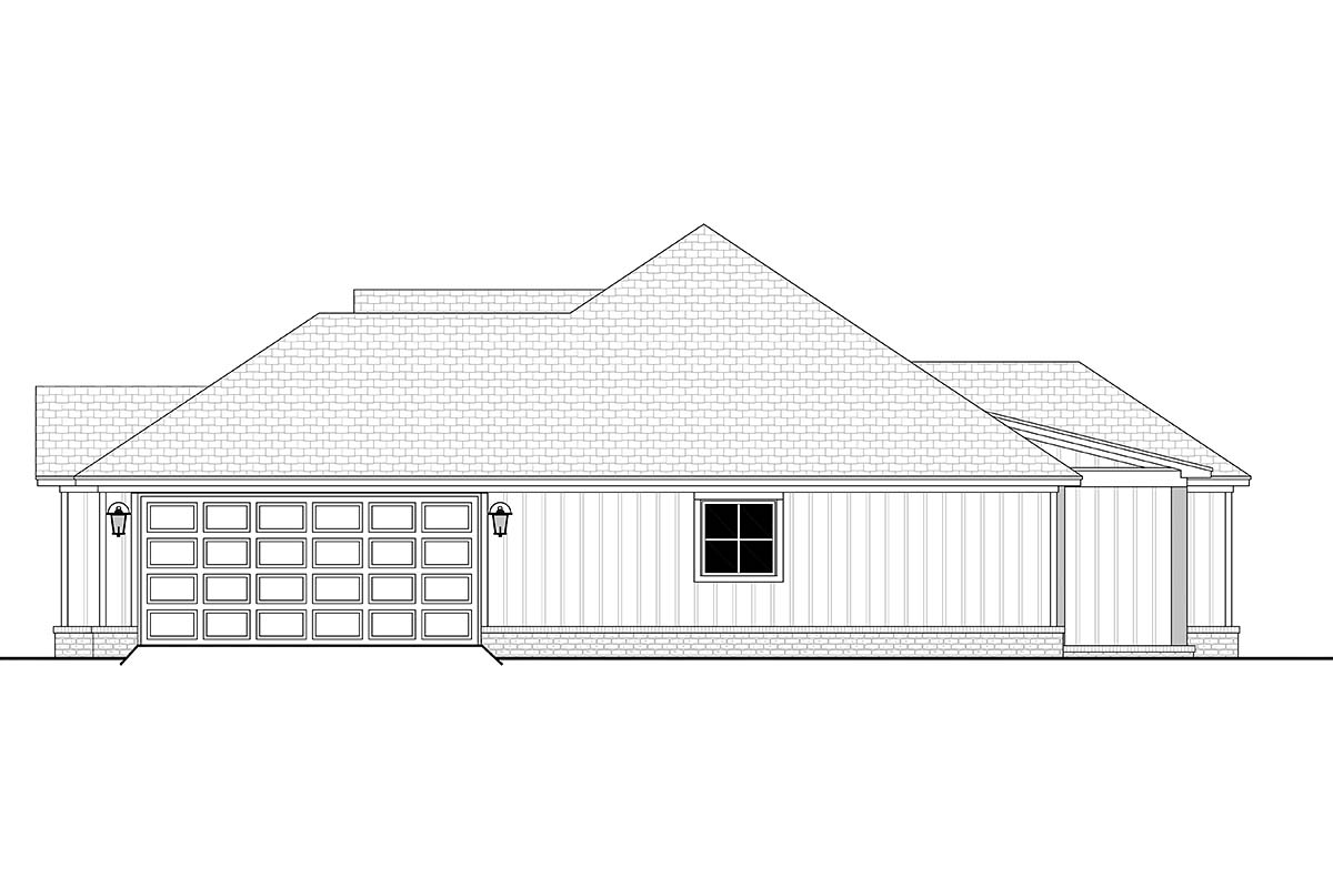 Country, Craftsman, Farmhouse House Plan 56704 with 4 Beds, 2 Baths, 2 Car Garage Picture 1