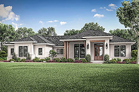Country , Farmhouse , Ranch House Plan 56706 with 3 Beds, 3 Baths, 2 Car Garage Elevation