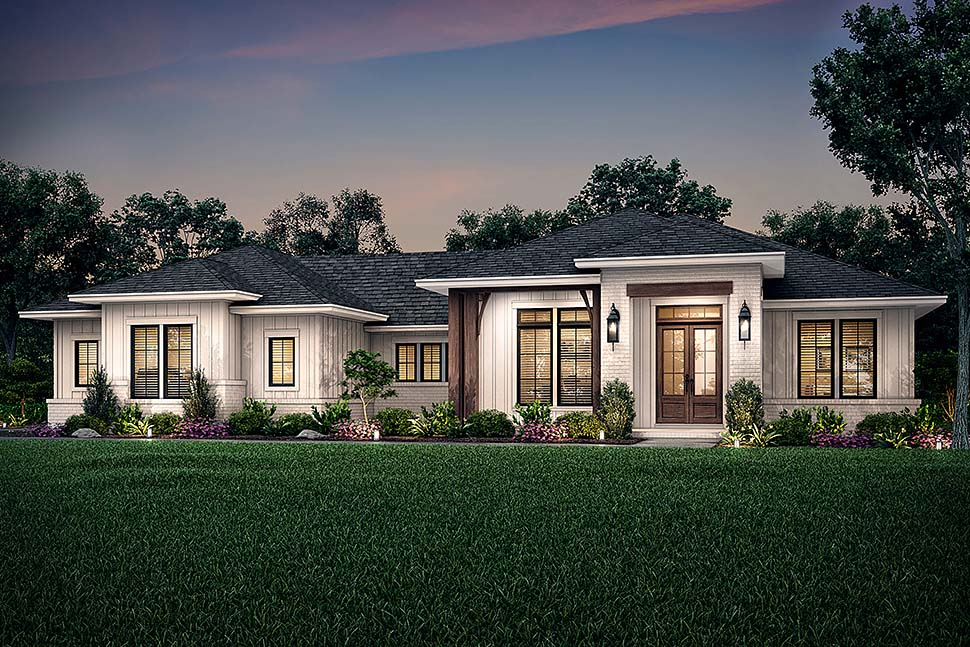 Country, Farmhouse, Ranch House Plan 56706 with 3 Beds, 3 Baths, 2 Car Garage Picture 4