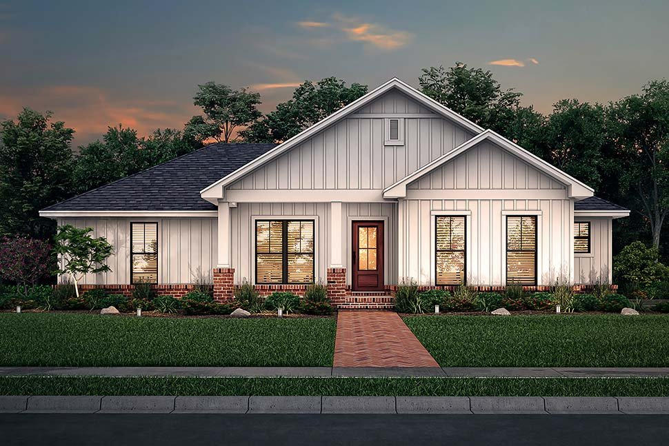 Country, Craftsman, Farmhouse, Traditional House Plan 56708 with 3 Beds, 2 Baths, 2 Car Garage Picture 4