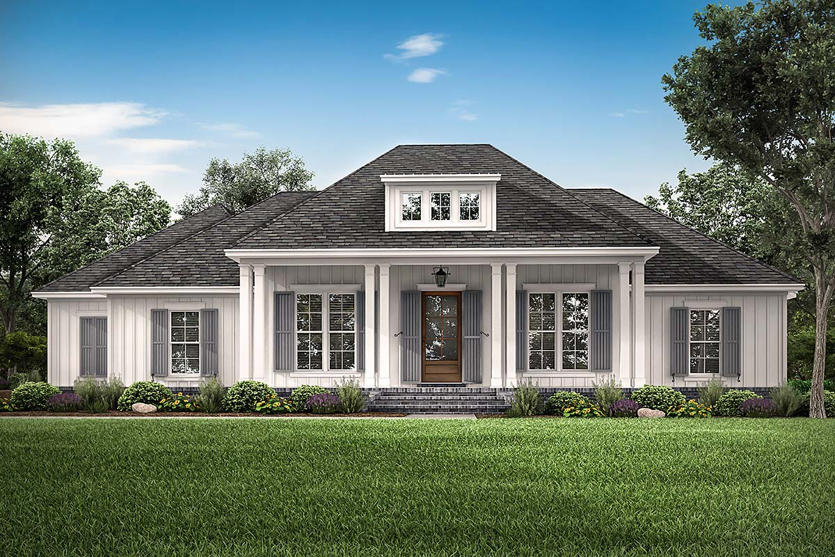 Country, Craftsman, Farmhouse, Southern, Traditional House Plan 56711 with 3 Beds, 3 Baths, 2 Car Garage Elevation