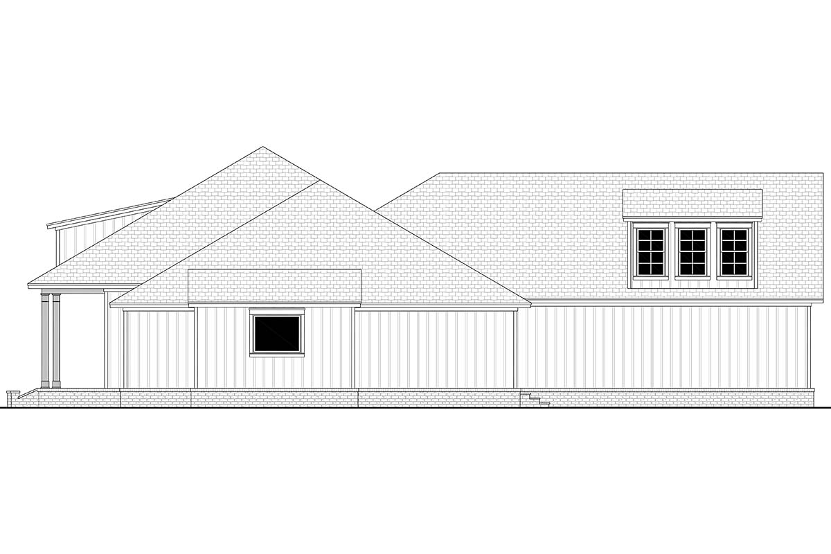 Country, Craftsman, Farmhouse, Southern, Traditional House Plan 56711 with 3 Beds, 3 Baths, 2 Car Garage Picture 1
